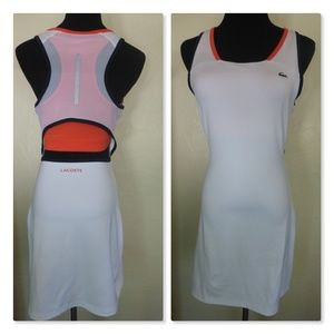 NEW Lacoste Open Back Tennis Dress